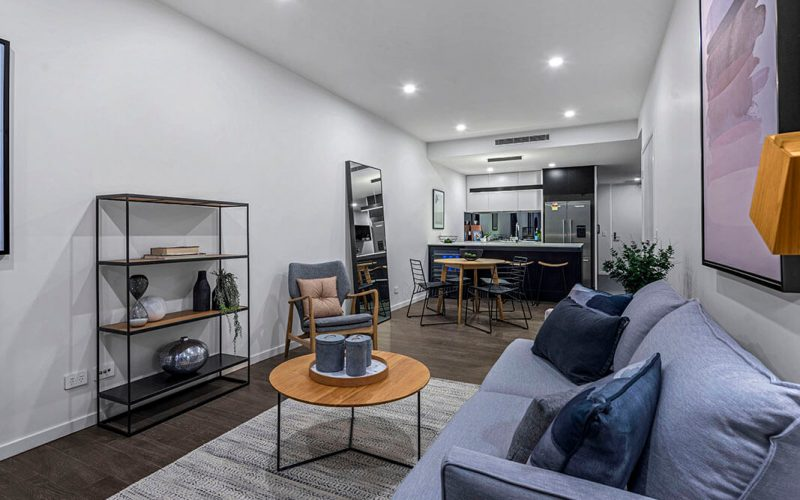22 Arthur Street - Kitchen and Living Area - Argentum - Trans Action Property